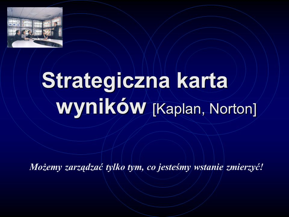Strategiczna karta wyników [Kaplan, Norton]